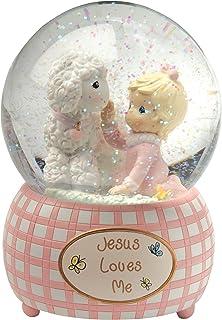 Image of Jesus Loves Me Snow Globe for Girls