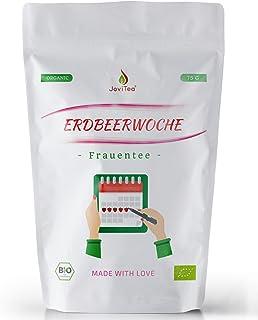 JoviTea Erdbeerwoche Bio Tee - Loser Tee für Frauen - Empfohlen während der Menstruation mit leckerem Geschmack - ohne künstliche Inhaltsstoffe - 75g