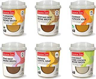 Nona Lim Heat & Sip Cups, Sampler Variety Pack - Gluten Free (10 oz, 6 Count) - Packaging May Vary