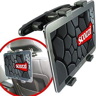 Soporte de coche scozzi® 360° para SONY Xperia Tablet Z / Z2 / 3 Compact / Z4 / S / reposacabezas apoyacabezas asiento trasero negro (ama4)