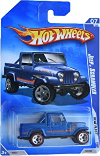 Hot Wheels 2009 Heat Fleet 7/10 Jeep Scrambler 123/190 Redline, Blue