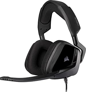 Corsair Void Elite Stereo Auriculares para Juegos Tejido Microfibra Transpirable, Almohadillas Espuma Memoria, Micrófono O...