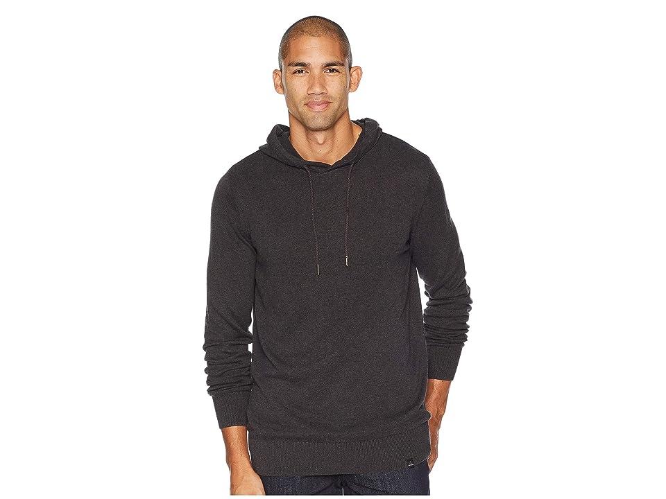 Prana Throw On Hooded Sweater (Black) Men