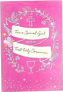 Hallmark - Tarjeta de felicitación de comunión para niña (tamaño mediano)