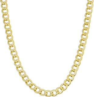 Mens 14k Yellow Gold Filled 4 mm High Polish Miami Cuban Curb Link Chain Necklace