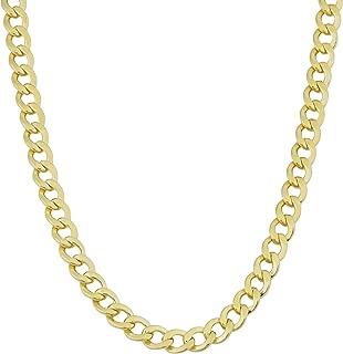 Kooljewelry Mens 14k Yellow Gold Filled 4 mm High Polish Miami Cuban Curb Link Chain Necklace