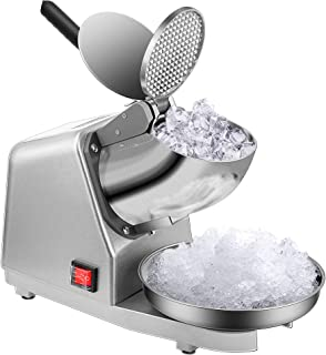 VIVOHOME Electric Dual Blades Ice Crusher Shaver Snow Cone Maker Machine Silver 143lbs/hr..