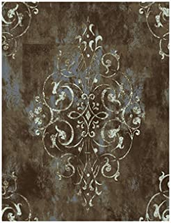 HaokHome 94005 Vintage Damask Thick Peel and Stick Wallpaper 17.7