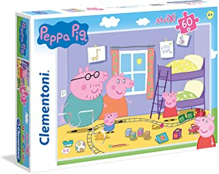 Clementoni - Puzzle Maxi Supercolor Peppa Pig 60 Pezzi