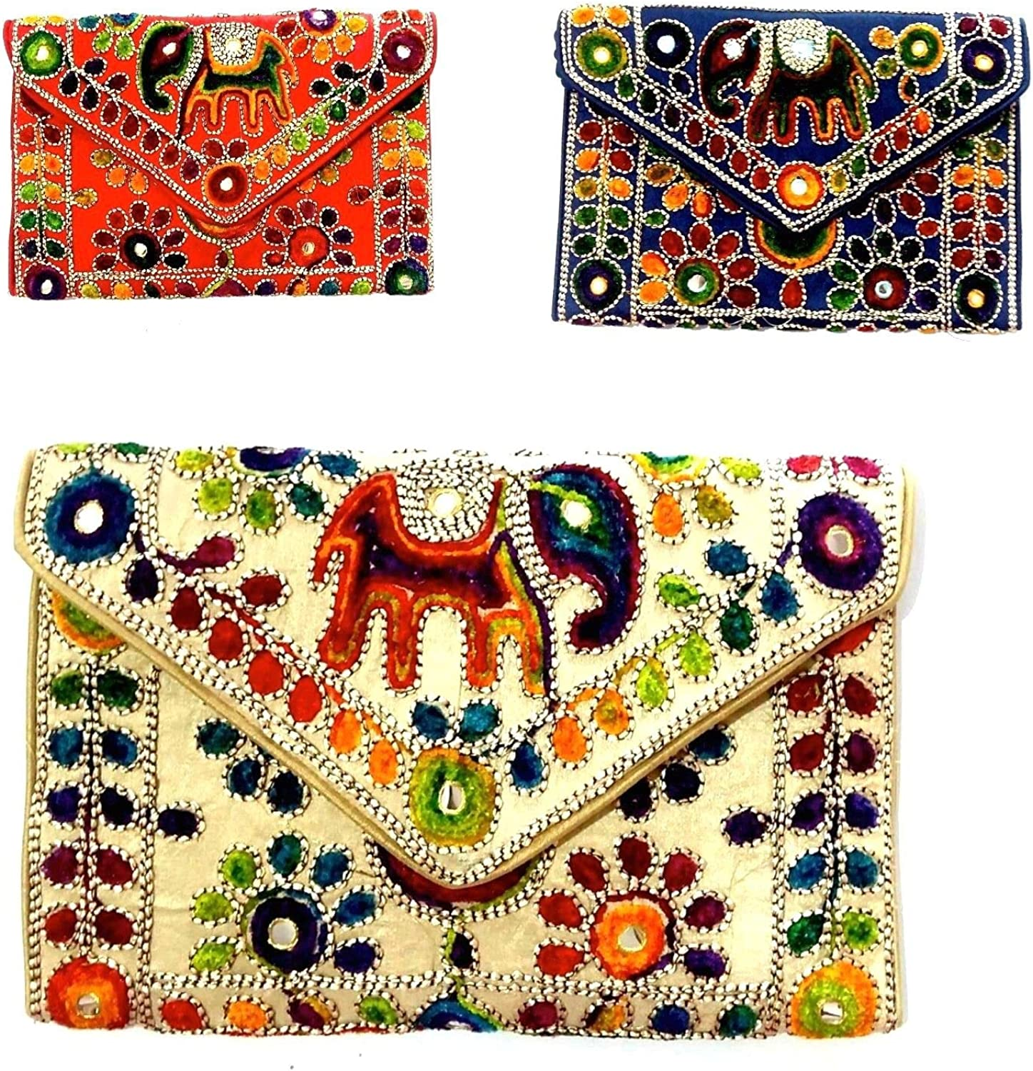 Indian Wholesale 50 pc lot Bulk Mandala Hand Bag Ethnic Clutches Purse Shoulder Assorted for Ladies by Panchal Creation-66