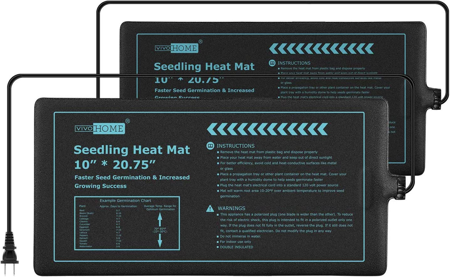 VIVOHOME Brand new 20W Fresno Mall Waterproof Seedling Heat Mats Starting Seed Pro for