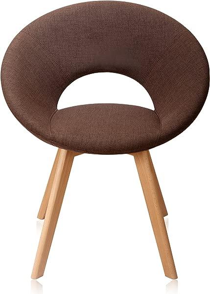 Krei Hejmo Wooden Armchairs In Fabric KLO O Umber