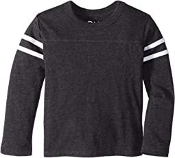 Extra Soft Tri-Blend Tee with Arm Stripes (Toddler/Little Kids)