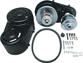 40 Series Go Kart Torque Converter Kit,COMPLETE-Bolt On Back Plate,40 Driver and Driven Pulleys,Belt,Cover,Hardware,Fits 8-18hp Motors 1