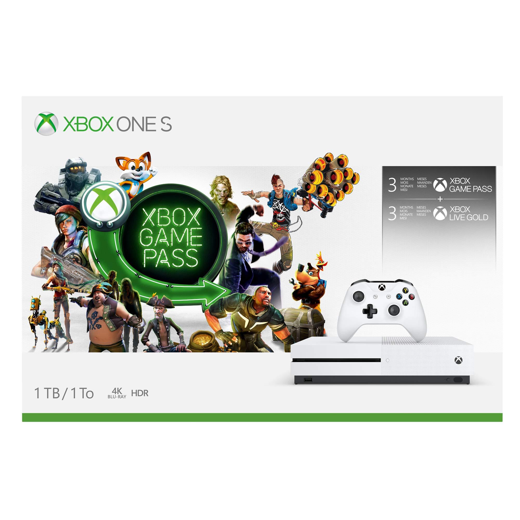 Microsoft Bundle Xbox One S (1TB) Starter Pack Blanco 1000 GB Wifi ...