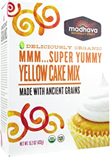Madhava Organic Super Yummy Cake Mix with Ancient Grains, Yellow, 15.2 Ounce (Pack of 6)