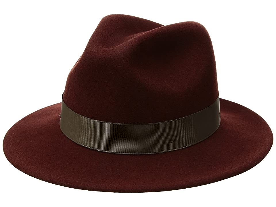 1940s Mens Hat Styles and History Betmar Sawyer Mahogany Caps $85.00 AT vintagedancer.com