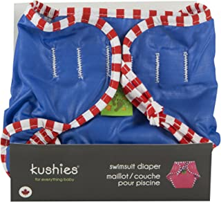 Kushies Reusable Swim Diaper, X-Large, Blue