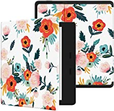 """Ayotu Colorful Case for All-New Kindle Oasis (10th Gen, 2019 Release & 9th Gen, 2017 Release) PU Leather Smart Waterproof Cover,Auto Wake/Sleep,ONLY Fits All-New 7"""" Kindle Oasis,KO Flowers"""
