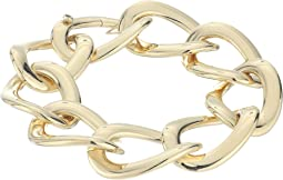 18K Open Curb Link Bracelet