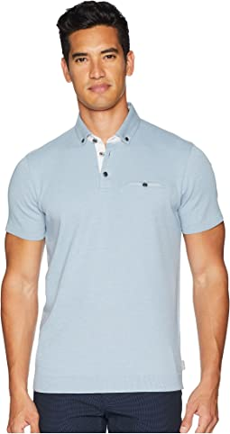 Ted Baker Frankiy Short Sleeve Polo w/ Button Down Collar