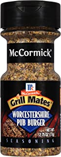 Grill Mates Pub Burger, Worcestershire, 2.75 Ounce