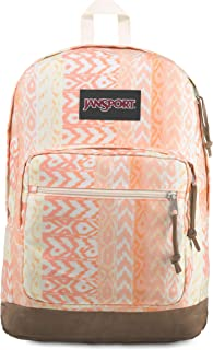 JanSport Right Pack Expressions Backpack - School, Travel, Work, or Laptop Bookbag, Coral Chevron Maze