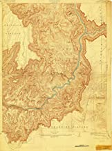 YellowMaps Vishnu AZ topo map, 1:48000 Scale, 15 X 15 Minute, Historical, 1907, Updated 1919, 26.7 x 19.8 in