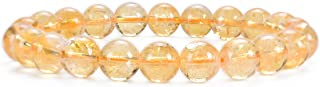Natural Semi-Precious Gemstone Beaded Stretch Bracelet 8mm Round Beads 7