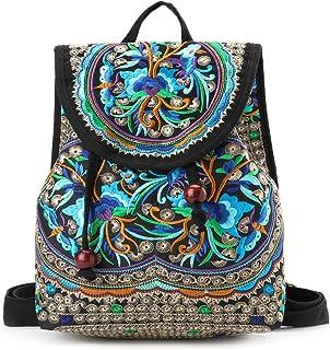 27137d3dce Goodhan Vintage Women Embroidery Ethnic Backpack Travel Handbag Shoulder Bag  Mochila