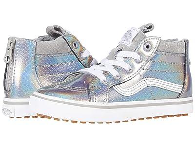 Vans Kids SK8-Hi Zip MTE (Infant/Toddler) ((MTE) Mermaid Metallic/Silver) Girls Shoes