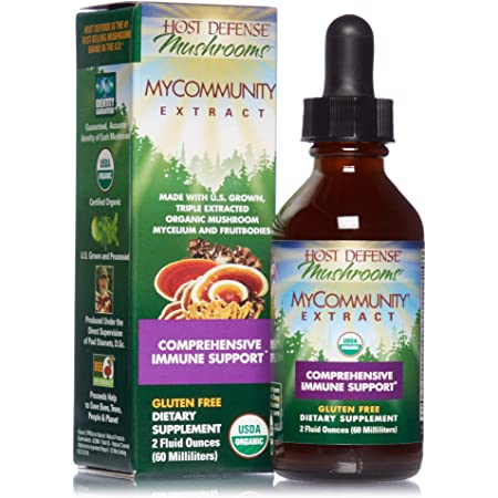 Host Defense, MyCommunity Extract, Advanced Immune Support, Mushroom Supplement with Lion's Mane, Reishi, Vegan, Organic, 2 oz (60 Servings)