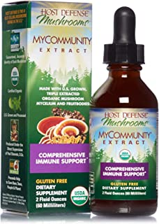 Host Defense, MyCommunity Extract, Advanced Immune Support, Mushroom Supplement with Lion's Mane, Reishi, Vegan, Organic, ...