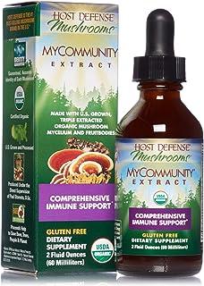 Host Defense, MyCommunity Extract, Advanced Immune Support, Mushroom Supplement with Lion's Mane, Reishi, Vegan, Organic, ...