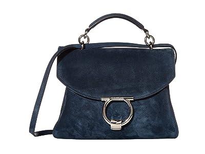 Salvatore Ferragamo Margot Satchel (Mezcal Teal) Handbags