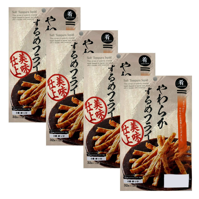 Sakana Selection Soft Tempura Squid 1.1oz 4pcs Japanese Appetize