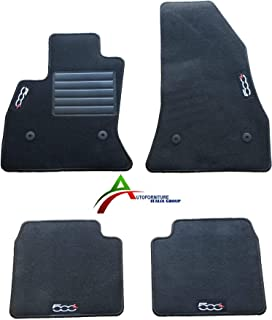 battitacco Tappeti 500L Tappetini Fiat 500L Restyling dal 2018  1 ricamo clip