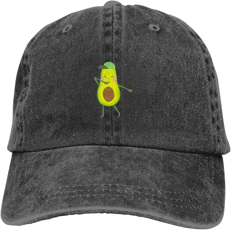 WAYMAY Funny Cartoon Avocado Healhty Food Unisex Adjustable Cowboy Hat Adult Cotton Baseball Cap