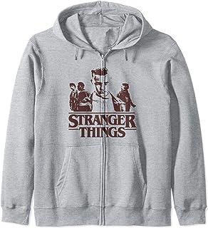 Netflix Stranger Things Group Shot Fade Logo Sweat à Capuche