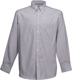 Fruit of the Loom Long Sleeve Oxford Shirt Camisa Casual para Hombre