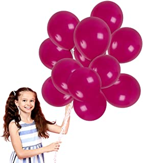 Treasures Gifted Dark Magenta Plum Solid Balloons Bouquet in 12 Inch Thick Latex for Birthday Bachelorette Wedding Graduation Party Decorations (72 Pack)