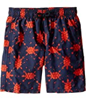 Vilebrequin Kids - Japan Turtles Swim Trunk (Big Kids)