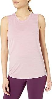 Core 10 Amazon Brand Women's Jacquard Mesh Muscle Sleeveless Tank