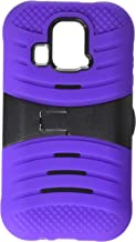 Eagle Cell Kyocera Hydro XTRM Hybrid Skin Case with Stand - Retail Packaging - Purple/Black