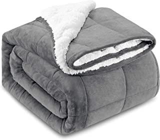 HBlife Sherpa Fleece Weighted Blanket for Adults, Oeko-Tex Certified 15 lbs Thick Fuzzy Bed Blanket, Heavy Reversible Soft...