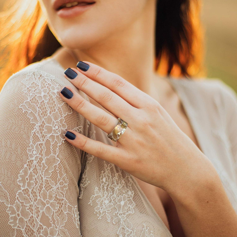 RIOSO 12Pcs Vintage Resin Acrylic Rings for Women Retro Colorful Plastic Resin Wood Ring Fashion Retro Ring Set