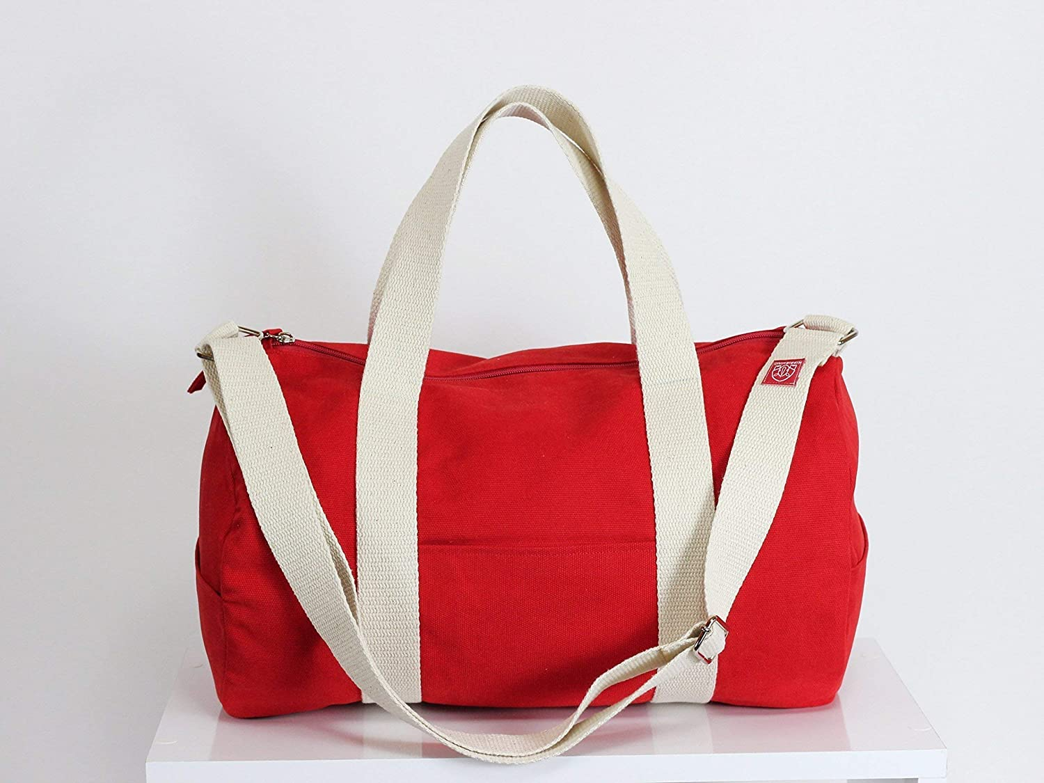 Red Outlet ☆ Free Shipping Duffel Bag Full Lined Durable Washable and Sales for sale Adjustable Long