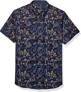 Ben Sherman Mens BA19F90617 Ss Foliage Camo PRNT Shrt Button Down Shirt