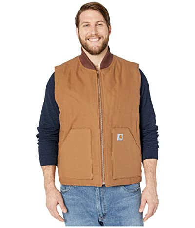 Carhartt Big Tall Duck Arctic Vest (Carhartt Brown) Men
