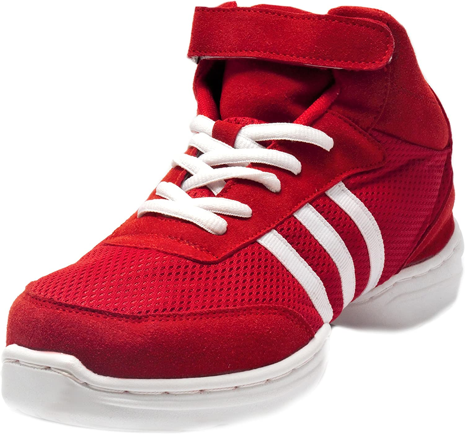 Nene's Collection RED Women's Dance Fitness shoes High Top Sneakers